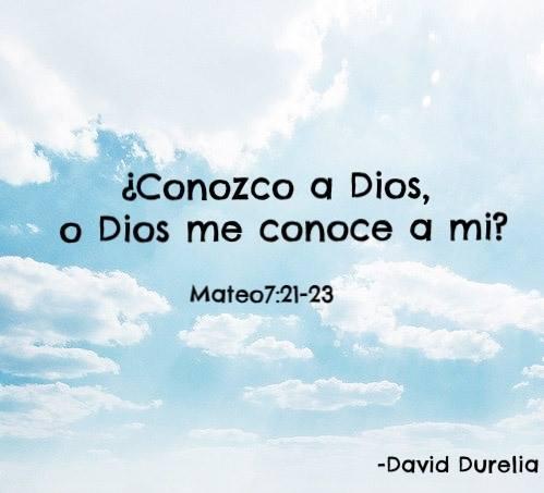 conozco a Dios